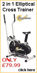 Confidence 2 in 1 Fitness Elliptical Cross Trainer & Exercise Bike