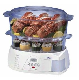 Oster 5712 Electronic 2 Tier 6.1 Quart Food Steamer
